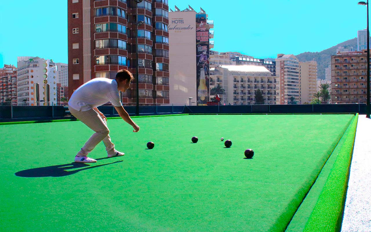 The only Bowling Green in Benidorm