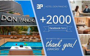 Gracias por 2000 seguidores en facebook