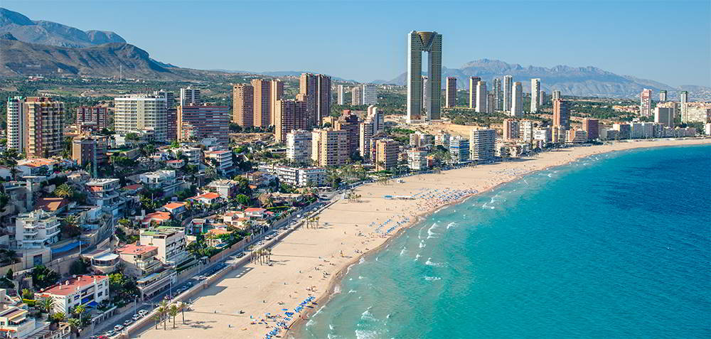 The sunny city of Benidorm
