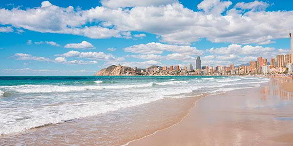 Wonderful beaches at benidorm