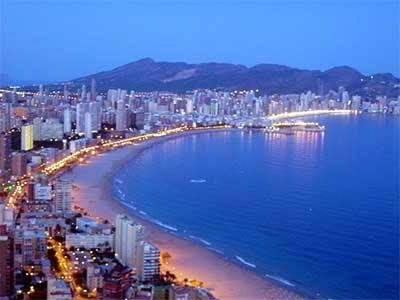 Night in benidorm