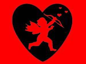 Cupid spreading love