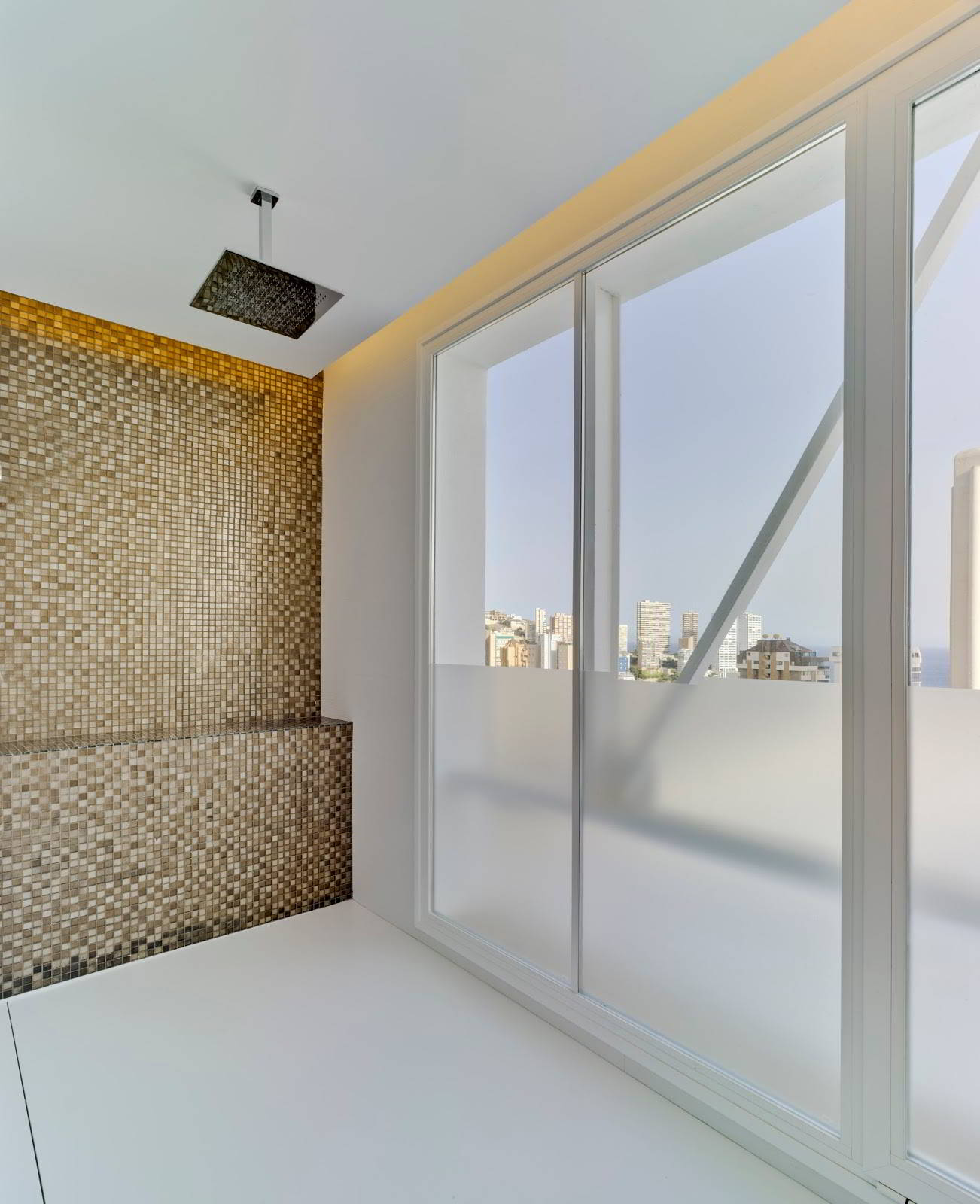 infinity shower at out penthouse room