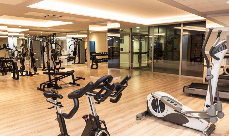 También hay tiempo para el ejercicio en el gimnasio del Hotel Don Pancho