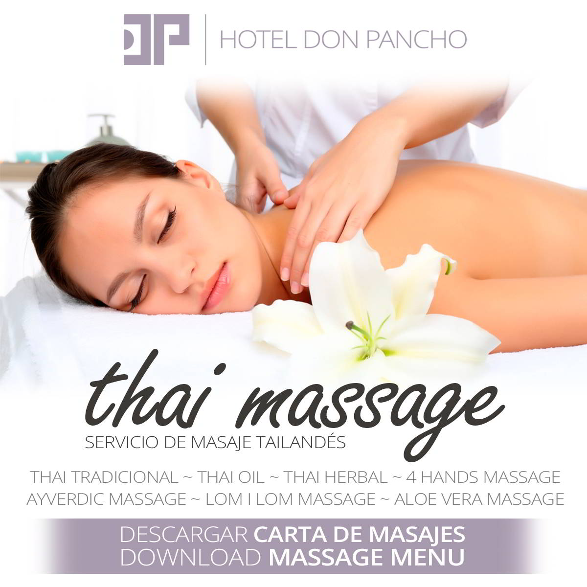 Have a relaxing massage at Don Pancho