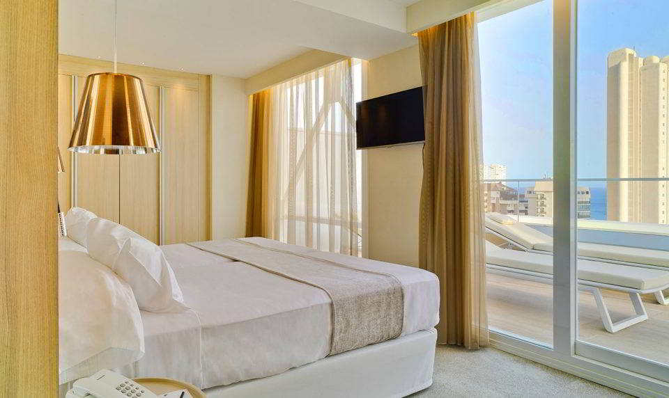 Ático. Habitación de nivel superior en el Hotel Don Pancho.