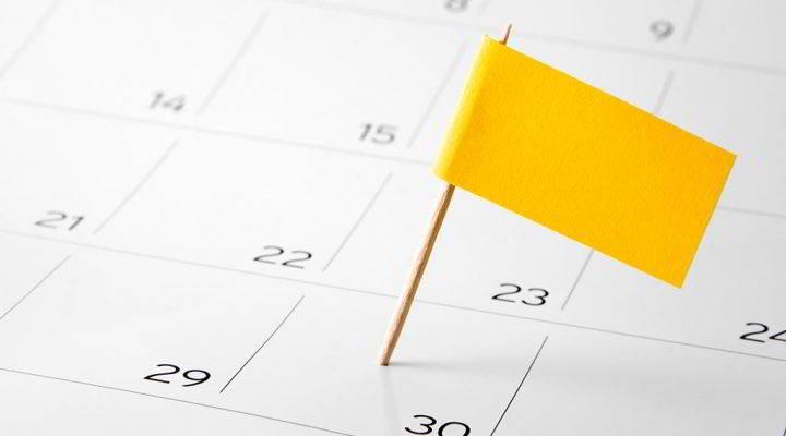 Calendario con la fecha de caducidad de los Happy Points del Hotel Don Pancho