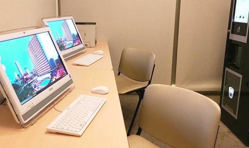 El Internet Café te permite trabajar o consultar cualquier cosa en el Hotel Don Pancho