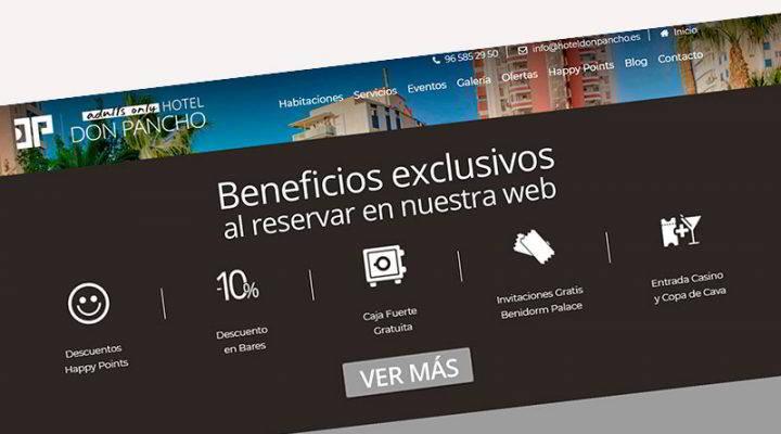 Al reservar en la web obtendrás beneficios exclusivos en el Hotel Don Pancho