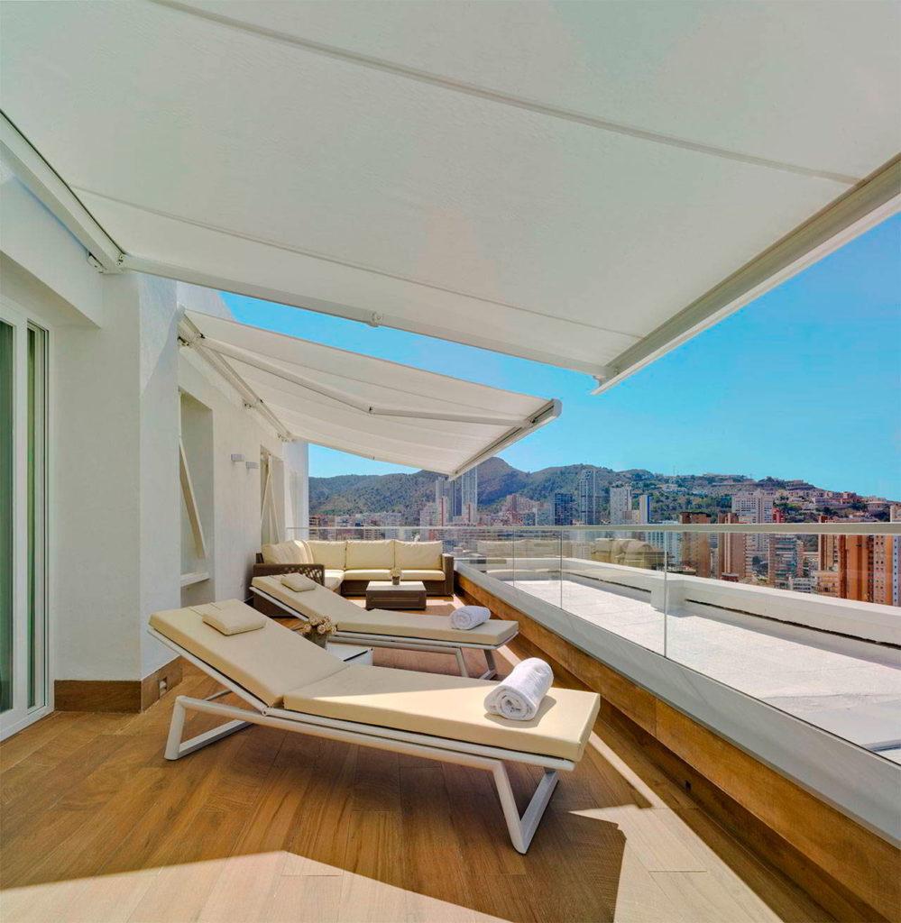 Terraza de una suite de lujo | Hotel Don Pancho