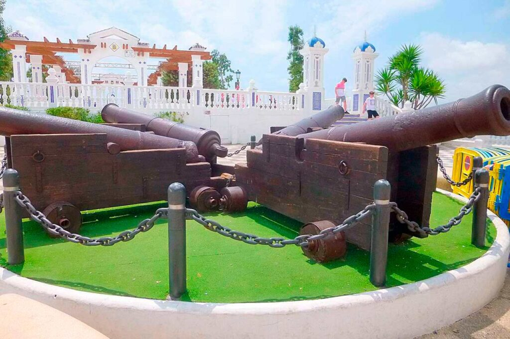 "Walk through the ""Plaza del Castell"" at Benidorm Easter"