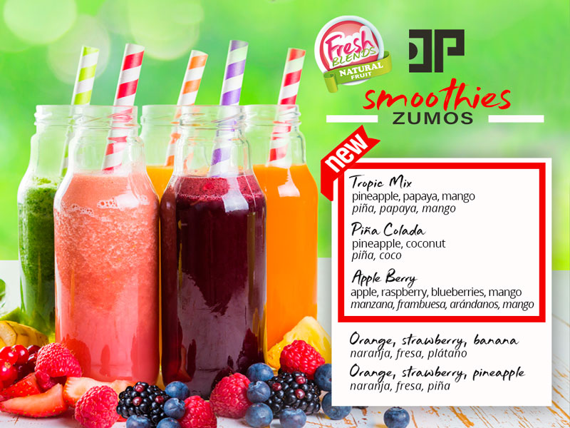 carta smoothies hotel don pancho