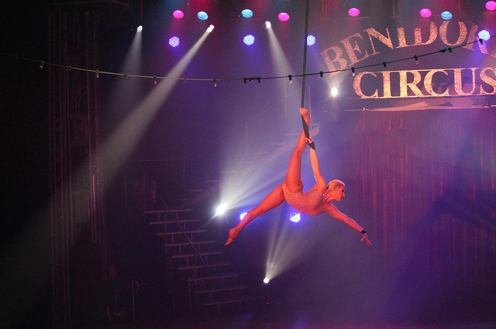 Aerial dance at Benidorm Circus